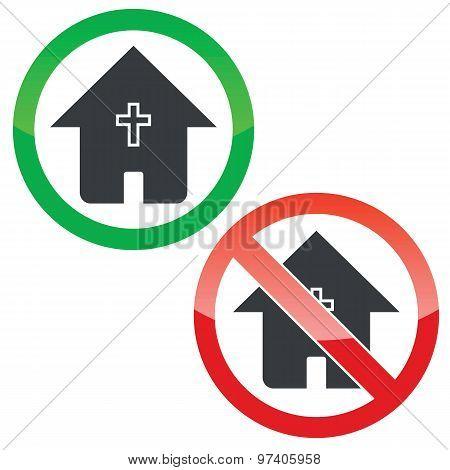 Christian house permission signs set