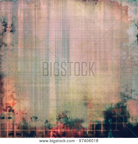 Grunge texture, may be used as retro-style background. With different color patterns: brown; green; pink; gray