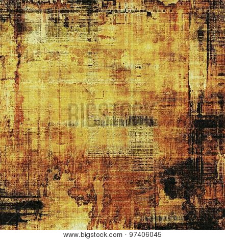 Highly detailed grunge texture or background. With different color patterns: yellow (beige); brown; black
