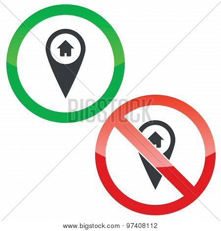 Mark house permission signs set