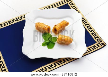 Turkish baklava, also well known as middle east sweets.