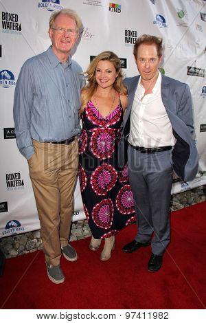 LOS ANGELES - JUL 29:  Ed Begley Jr., Clare Kramer, Raphael Sbarge at the