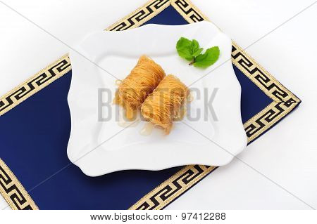 Turkish dessert baklava, also well known as middle east sweets