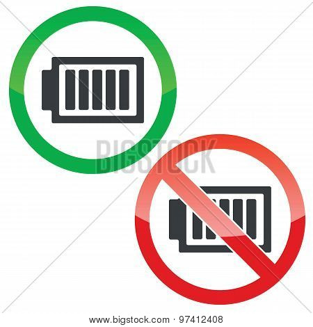 Full energy permission signs set