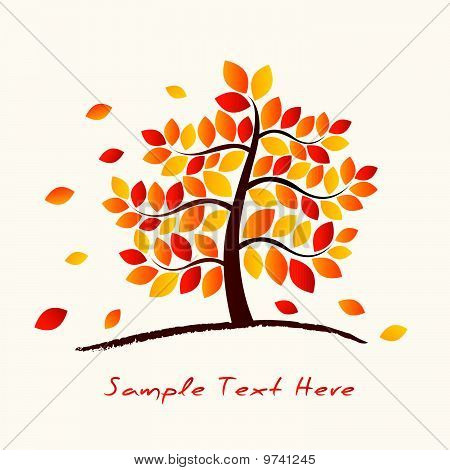 Vector Autumn Tree