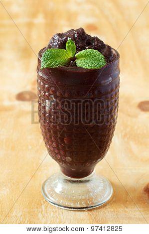 Acai Frozen Pulp Juice In Glass