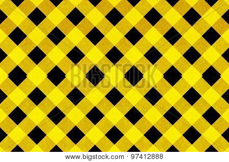Yellow And Black Criss Cross Pattern