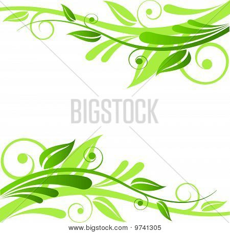Green Floral Vector Design