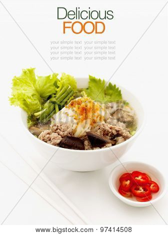 Noodle Soup Cooked In Soya Sauce.