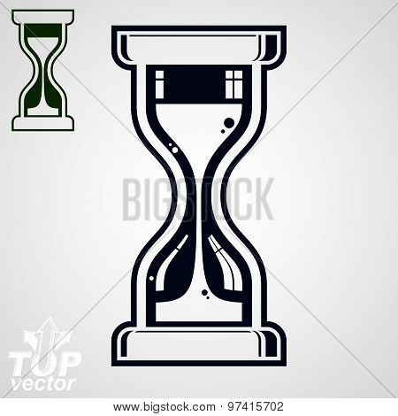 Eps8 highly detailed vector sand-glass illustration, includes additional version. Antique hoorglass