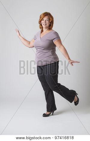 Skipping Woman