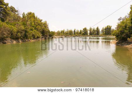 Beletsi lake in Greece.