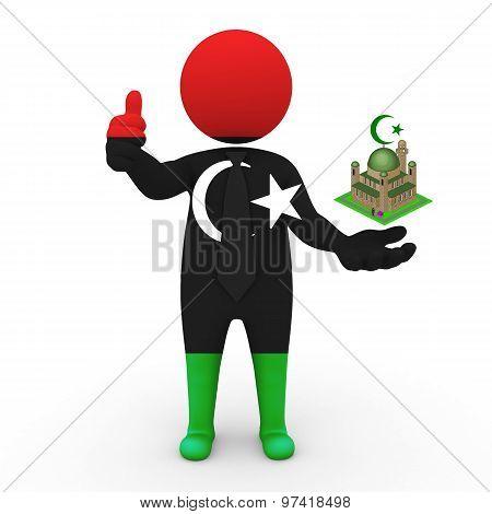 3d businessman people Libya - Muslim mosque and Islam in Libya