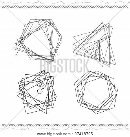 Set Of Geometric Color Hipster Shapes55419