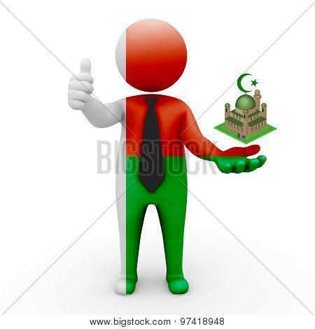 3d businessman people Madagascar - Muslim mosque and Islam in Madagascar