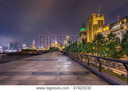Bund Promenade At Night