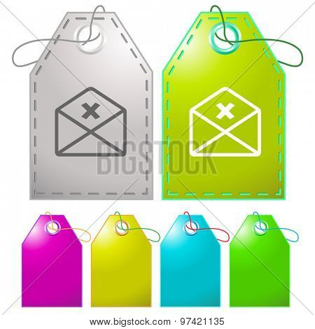 mail cancel. Vector tags.