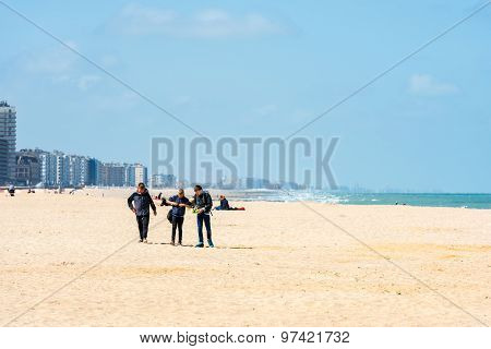 View Of Ostend Beach, Belgium