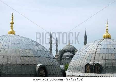 Domes And Minarets In Istanbul Turkey