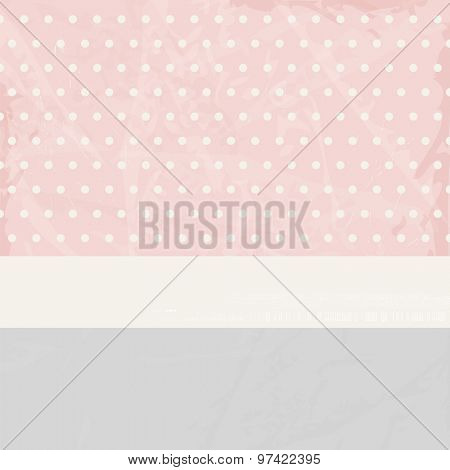 Soft pastel background with polka dots in vintage style