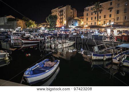 Boats Moored In Ajaccio Port, Corsica Island