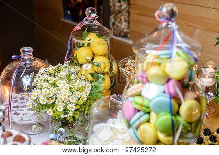 Fresh Lemons In Candy Bar
