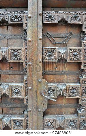 Old Carved Wooden Door