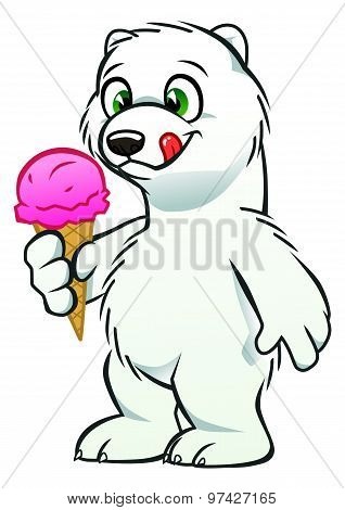Bear Cub With Icecream