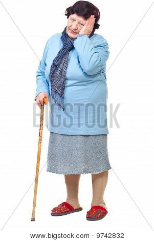 Elderly Woman With Hard Life