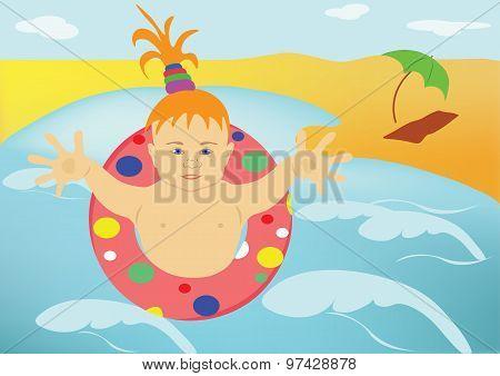 The Child, Sea, Beach