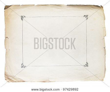 Vintage Texture Old Paper Background Isolated On White