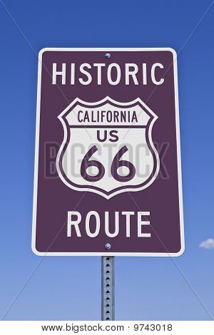 Rt 66 California Sign
