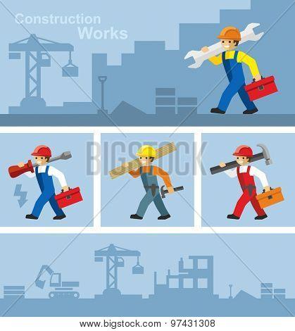 Industrial Builder Worker