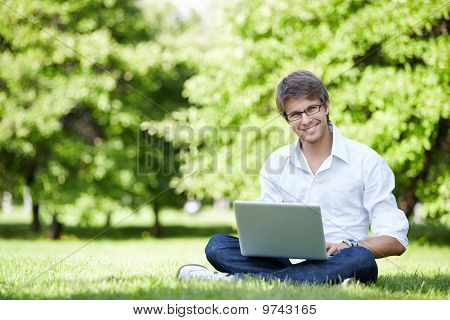 A Young Man Outdoors