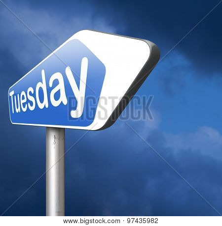 tuesday next day schedule concept for appointment or event in agenda