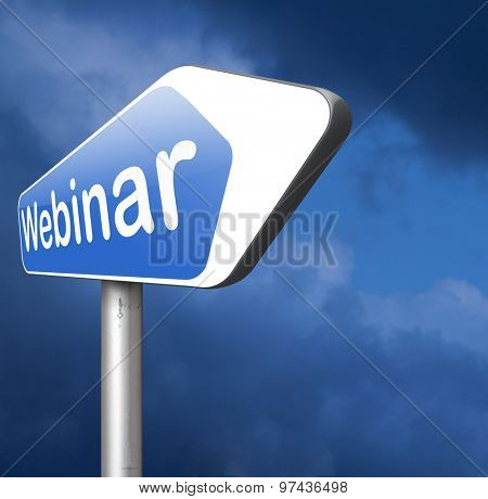 webinar online seminar or internet workshop web conference