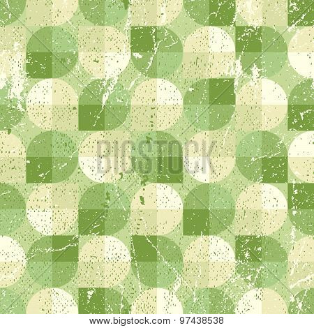 Seamless retro pattern, vector tiles background with messy grunge texture. Texture