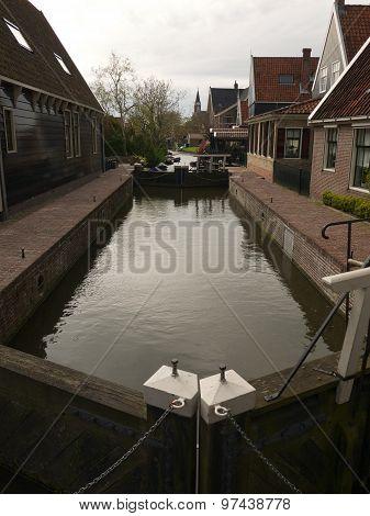 Traditional Sluice In De Rijp, Holland