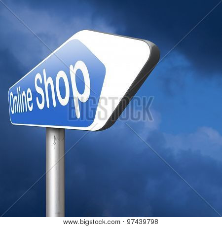 online shop internet web shopping webshop sign