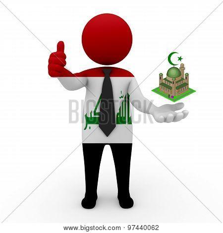 3d businessman people Iraq - Muslim mosque and Islam in Iraq