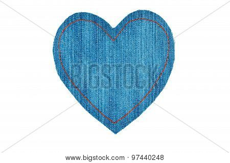 Symbolic Heart Made Of Jeans For The Your Of The Text