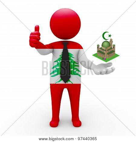 3d businessman people Lebanon - Muslim mosque and Islam in Lebanon