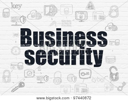 Privacy concept: Business Security on wall background