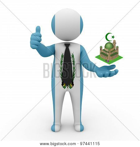3d businessman people Guatemala - Muslim mosque and Islam in Guatemala