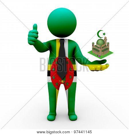 3d businessman people The Dominican Republic - Muslim mosque and Islam in The Dominican Republic