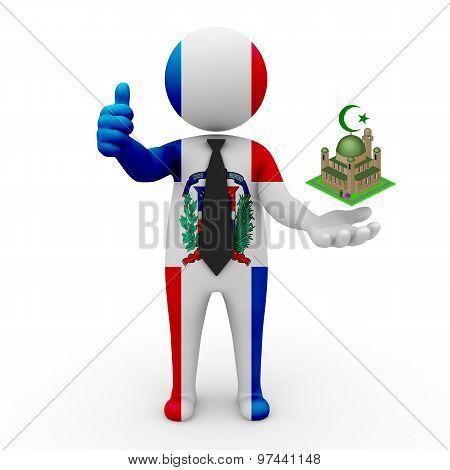 3d businessman people Dominican Republic - Muslim mosque and Islam in Dominican Republic