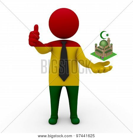 3d businessman people Bolivia - Muslim mosque and Islam in Bolivia
