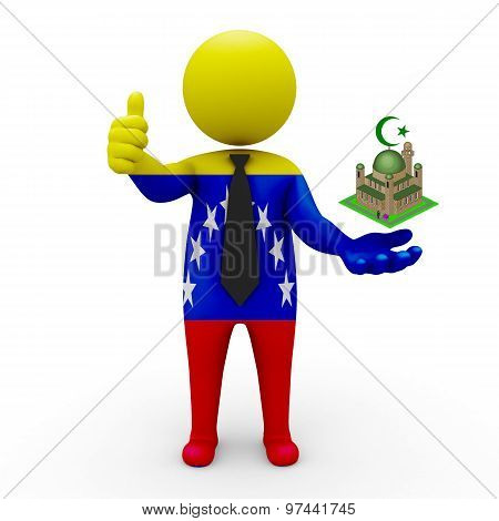 3d businessman people Venezuela- Muslim mosque and Islam in Venezuela