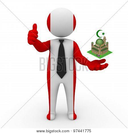 3d businessman people Peru - Muslim mosque and Islam in Peru