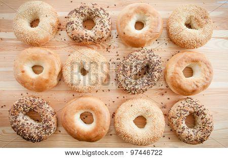 Variety Of Fresh Bagels